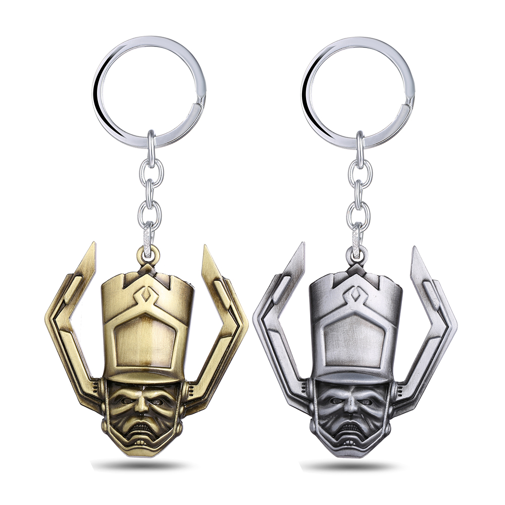 Mengtuyi Jewelry Game Keychain Guardians of the Galaxy Geometric 2 Colors Mask Ornament Keychain