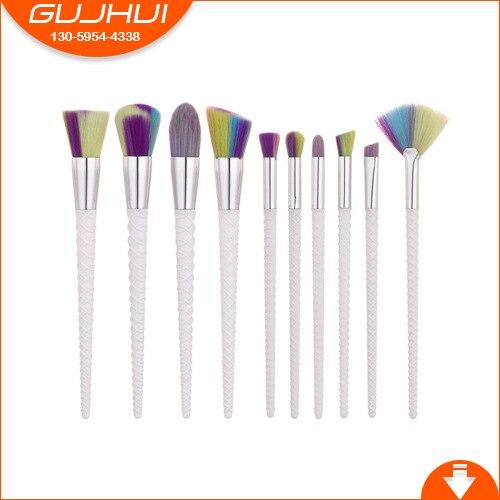 10 Makeup Brush Set, Beauty Tools, Knitting Foundation Brush, Eye Brush, Make-up GUJHUI 9 toothbrush make up brush foundation brush brush beauty makeup tools