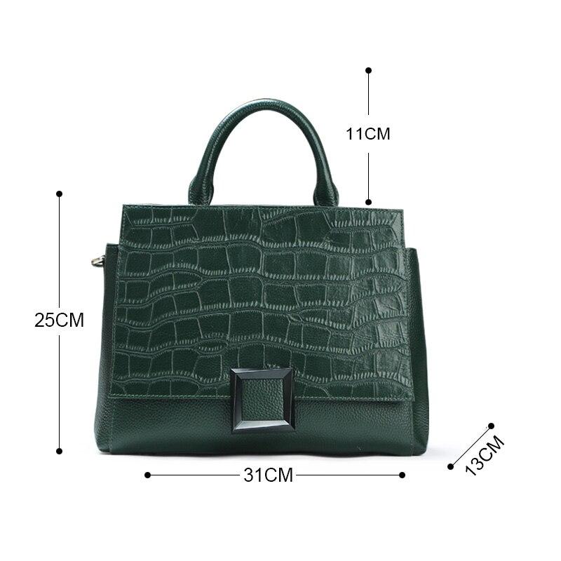 Qiwang Marque En tout À Mode Qualité Vert De Main Sac Luxe Supérieure Femmes Crocodile Cuir Qw5081 Réel Fourre Pour prXrxq1