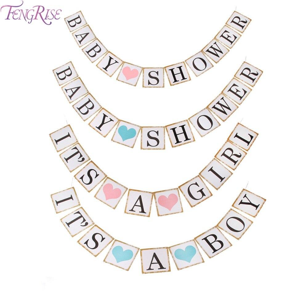 FENGRISE 3 м Baby Shower Бумага баннер его для девочек и мальчиков 1st День рождения Photo booth украшение висит бар флаги поставки