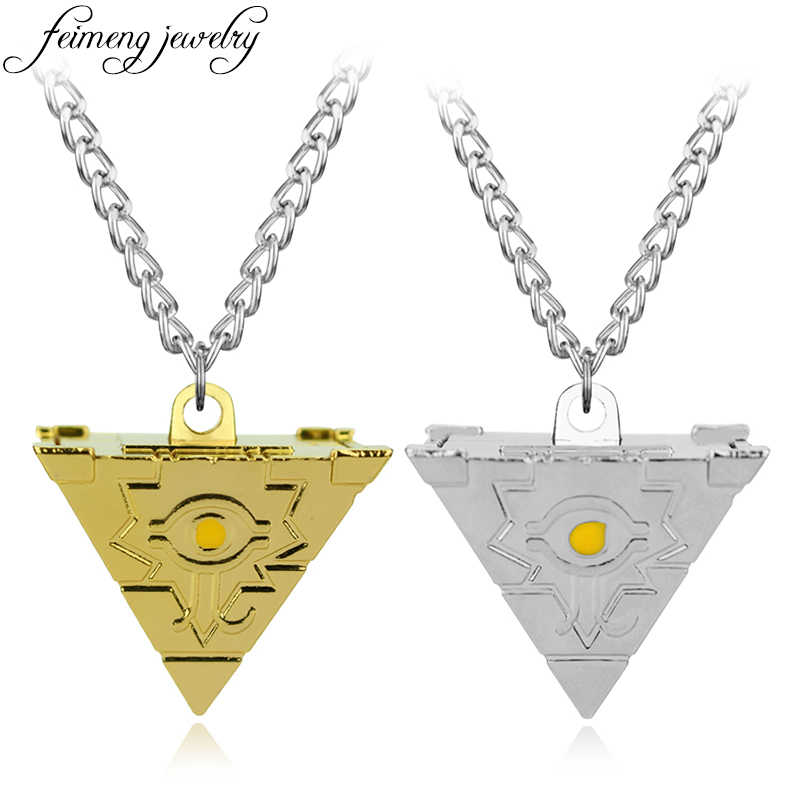 feimeng jewelry Anime Yu-Gi-Oh Necklace Game Yugioh 3D Millenium Puzzle Pendant Pyramid Egyptian Eye Of Horus Necklace For Men