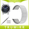 22mm pulseira de aço inoxidável para samsung gear s3 clássico fronteira elástico watch band strap link pulseira de cinto de prata + ferramenta