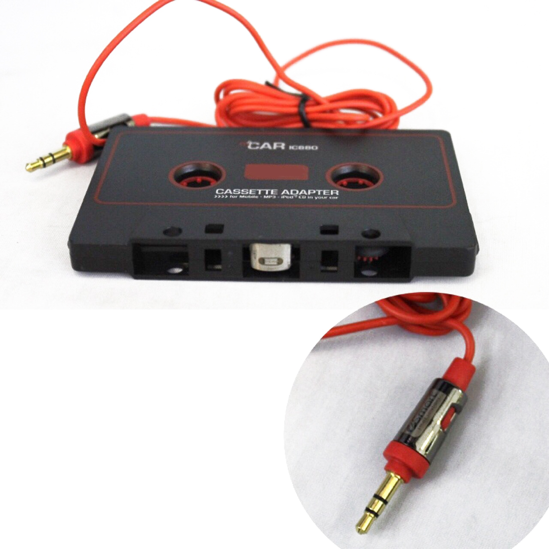 Universal Car Cassette Tape Stereo Adapter Converter For Ipod 12 Pin Radio Dual Wire Harness Power Plug Cd Mp3 Marsnaska Player Iphone Aux Cable