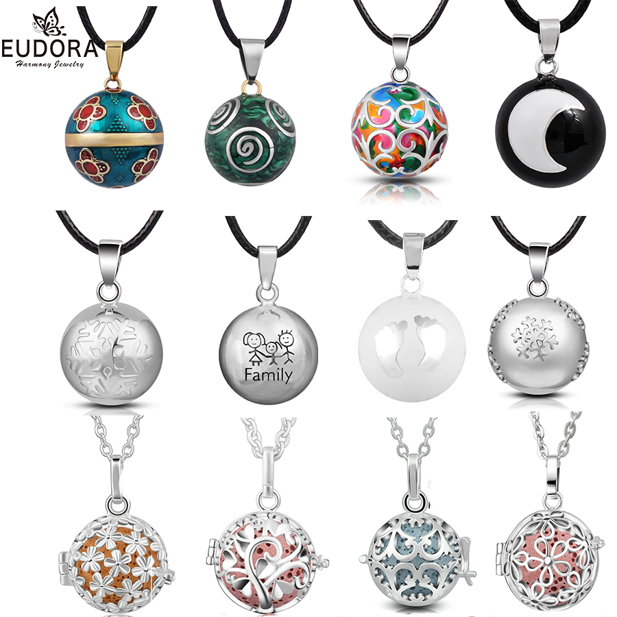 цена на Angel Caller Necklace Gift Harmony Chime Ball Mexican Bola locket Cage Pendant Pregnancy Sounds Ball Pendant for pregnant Women