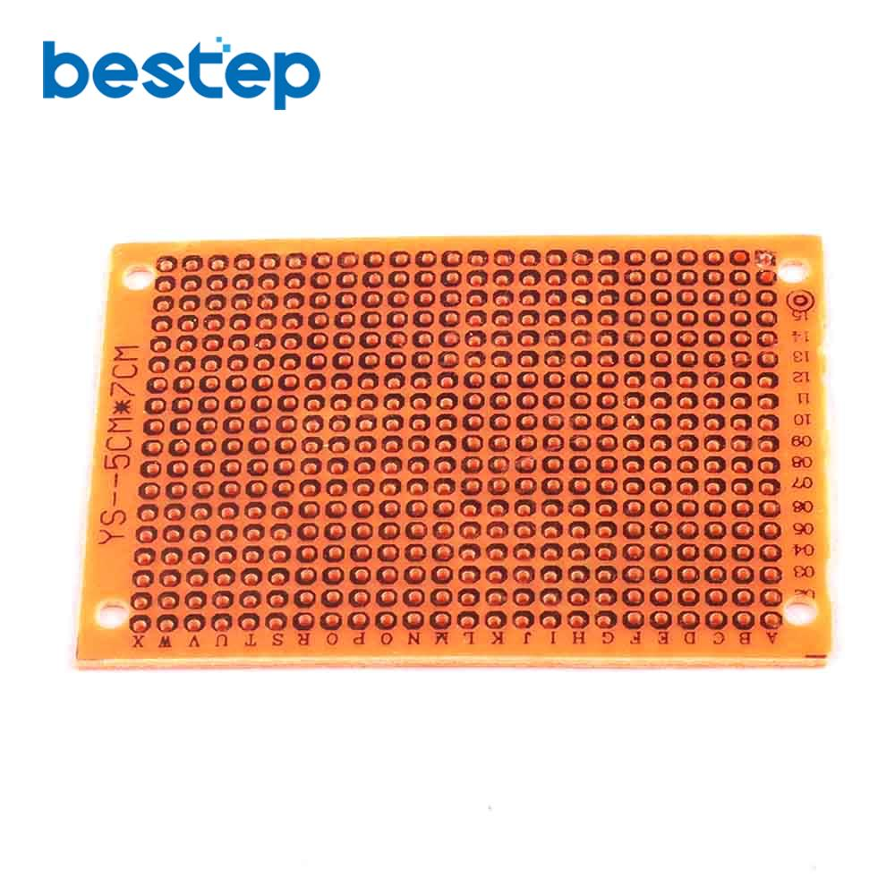 10PCS 5*7cm DIY Prototype Paper PCB Universal Experiment Matrix Circuit Board 5x7cm