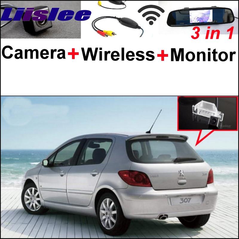 3 в 1 специальный Камера заднего вида + беспроводной приемник + зеркало монитор DIY и система парковки для Peugeot 307 Хэтчбек 307cc 2001~2014