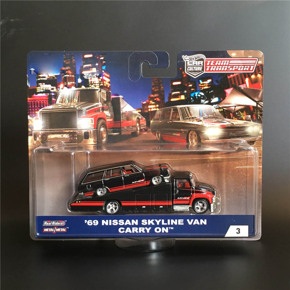 Hot Wheels Car 1:64 Car Culture Team Transport Collector Edition Metal Diecast Car Model Real Riders Kids Toys Gift