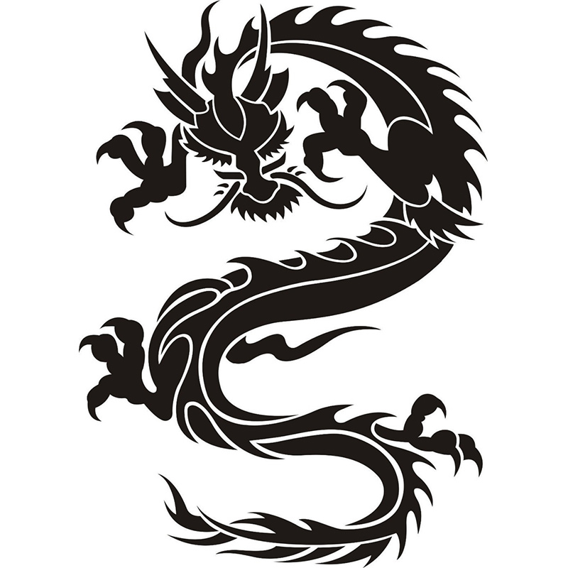 1pc dragon oriental wall stickers home decal removable art vinyl 1pc dragon oriental wall stickers home decal removable art vinyl wall decor wallpaper 58x80cm in wall stickers from home garden on aliexpress altavistaventures Gallery