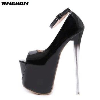 Bombas Las Conciso Tacón 18 Cm De Striptease Mujeres Alto Fetiche Club Sexy Tinghon Zapatos Mujer Boda Hebilla Muy rdBoxCe