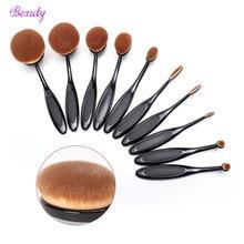 10PCS Soft Makeup Brushes Shape Oval Pincel Maquiagem Set Professional Foundation Multipurpose Powder Pinceis De Maquiagem Set