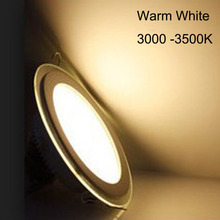 AC110V AC220V 5W 12W 18W LED Panel Downlight Round Glass Lights Ceiling Recessed Lamps