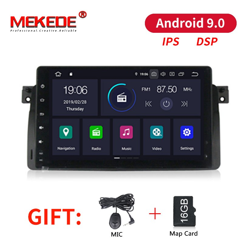 MEKEDE Android 9.0 IPS DSP 1DIN Car DVD Player for BMW E46 3 Series 318 320 325 M3 Rover 75 MG ZT BT GPS Navigation Radio Audio