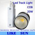 FREE SHIPPING New Arrival Led Track Light COB 20W  120 Beam angle AC 85-265V led spot lighting + CE ROHS CSA UL