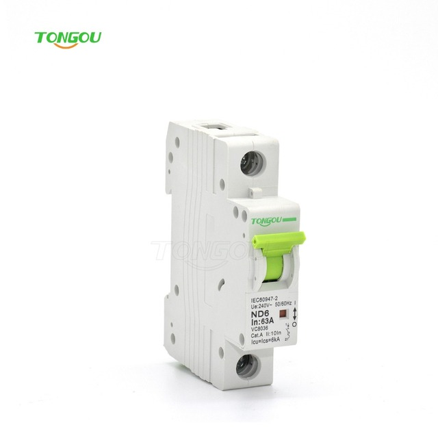 TOMC7 Single Pole 63 Amp circuit breaker overload protector safety ...