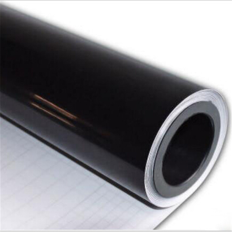 20cmx150cm 3 Layers Black Gloss Vinyl Wrapping Film Ultra Glossy Black Vinyl Wrap Foil Sticker Air Bubble Free For Car Styling