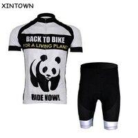 XINTOWN Panda Cyclisme Jersey Bike Jersey Shorts Vélos Sportwear ciclismo Manches Courtes T-Shirt Vêtements Jersey S-4XL