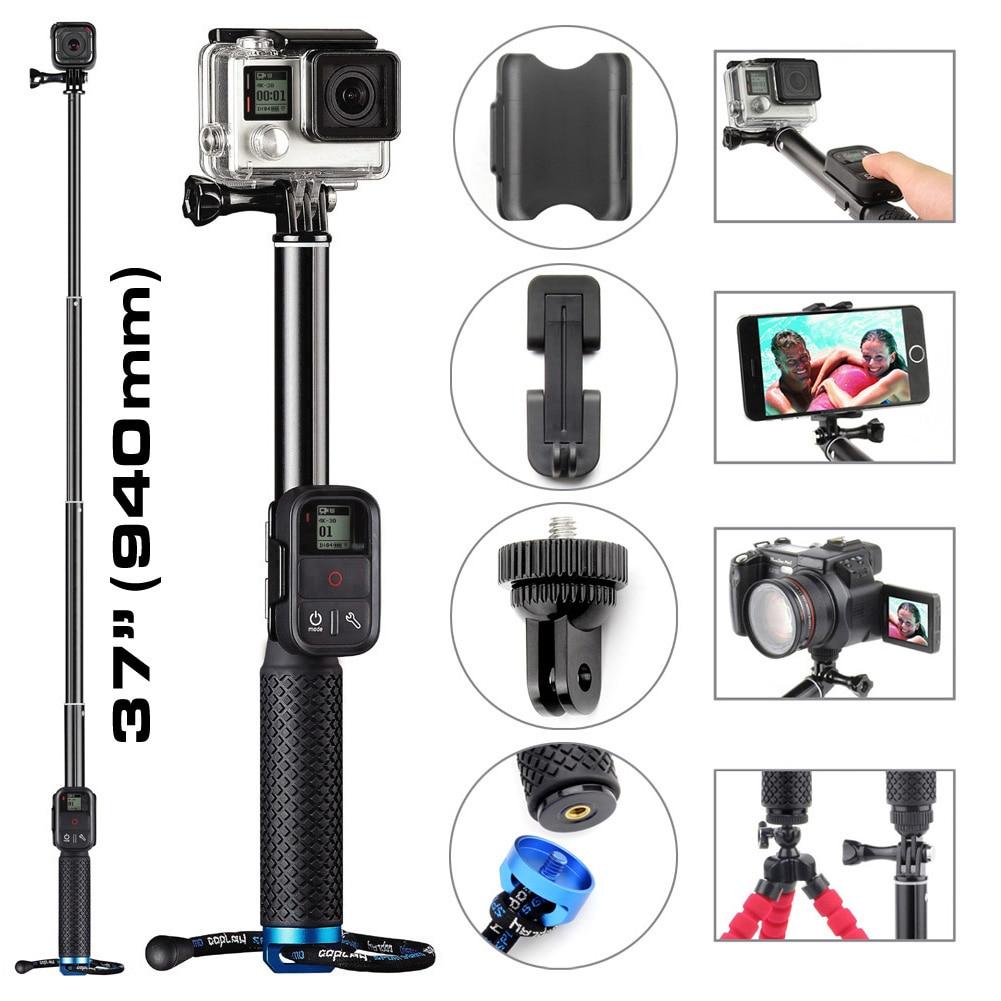 soonsun 3 in 1 aluminum self lock extendable monopod pole telescopic handheld selfie stick for. Black Bedroom Furniture Sets. Home Design Ideas