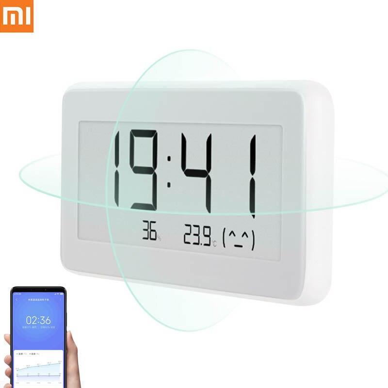 Xiaomi BT4.0 Sem Fio Inteligente Elétrica Relógio Digital LCD Temperatura de Medição ToolsIndoor & Higrômetro Termômetro Ao Ar Livre