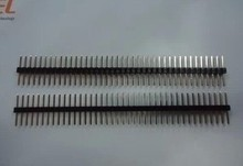 Free shipping 50pcs/lot Single Row Pin 2.54MM 1 * 40P  the total length 14MM sides separator is in the middle