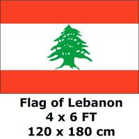 Lebanon Flag 120 x 180 cm 100D Polyester Large Big Lebanese Flags And Banners