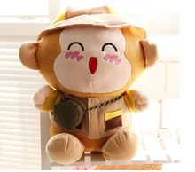 large 50cm lovely monkey plush toy fashion travelling suit cloth monkey doll throw pillow,birthday gift w5690(China)