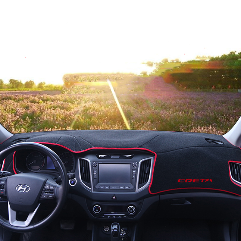 Auto armaturenbrett abdeckung Matten Vermeiden lichtmatte instrumentenplattform schreibtisch Teppiche Für Hyundai Creta Ix25 2015 2016 2017 2018 Zubehör