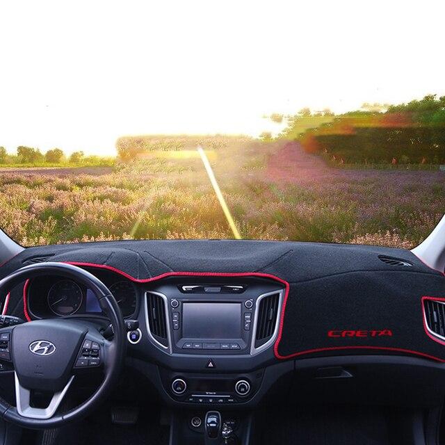 Car dashboard cover Mats Avoid light pad Instrument platform desk Carpets For Hyundai Creta Ix25