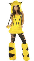 Pikachu cosplay Halloween costumes Christmas Cat female animal outfit service fox dress up costume costume stage A hat