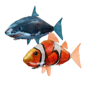 Remote Control Shark Toys Air Swimming Fish Infrared RC Flying Air Balloons Clown Fish Kid Toys Gifts Party Decoration Drop ship