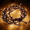 4 m 100 Luces de Hadas de Cadena Party luces de Hadas del Jardín LED String Luz Estrellada Decration 220 V