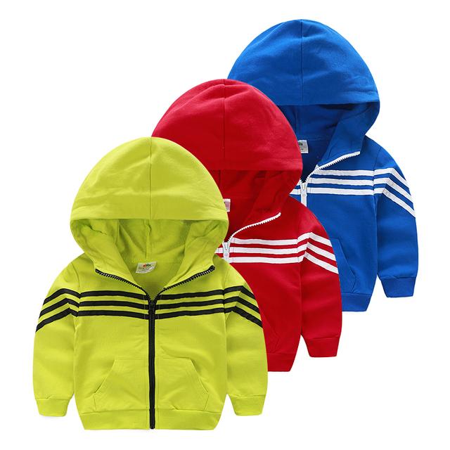 Zip-up Hoodies Esportes dos miúdos 2017 Meninos meninas marca Sprort hoodies criança roupas de verão da menina do menino casaco marca
