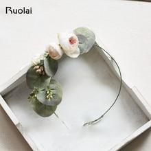 Rose Flower Hair Pieces Wedding Handmade Headpiece Wedding Accessories Bridesmaid Headband Wedding Hair Jewelry HD3