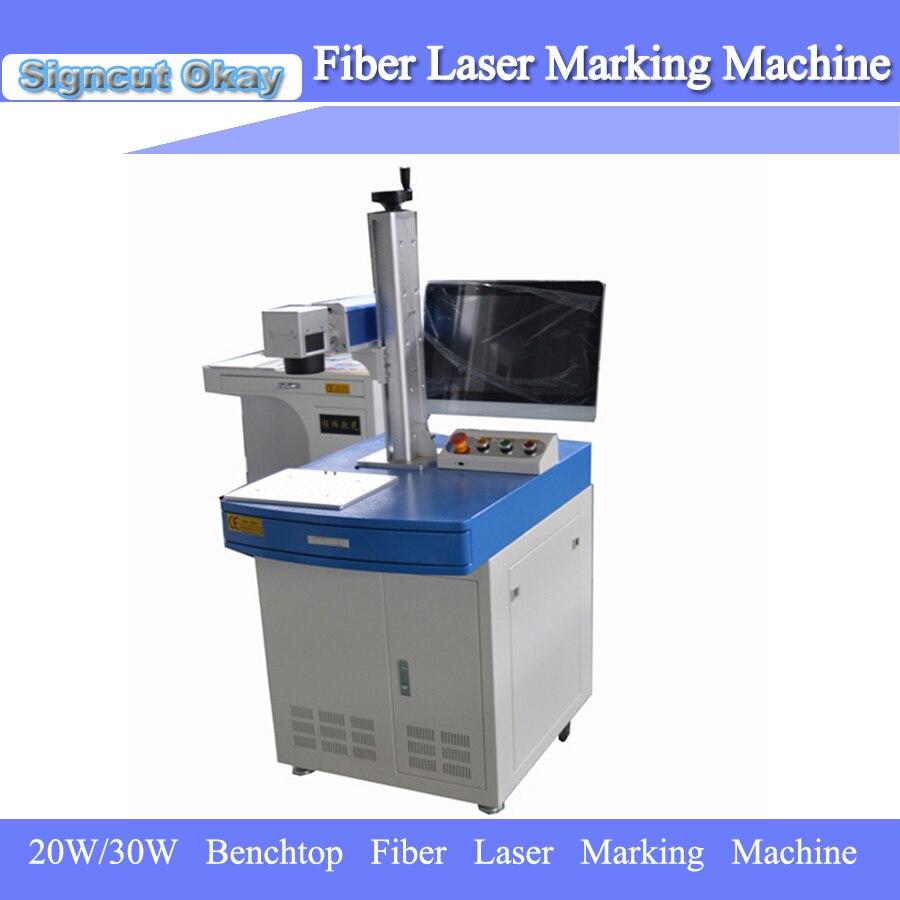 Hot Selling Cheap Portable Mini Fiber Laser Marking Machine For Plastic Free Shipping 20W/30W
