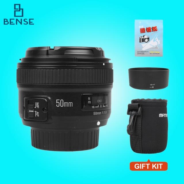 YONGNUO YN 50 мм f/1.8 AF Объектив YN50mm Диафрагмы Автофокусом Большой Апертурой для Nikon DSLR Камеры как AF-S 50 мм 1.8 Г