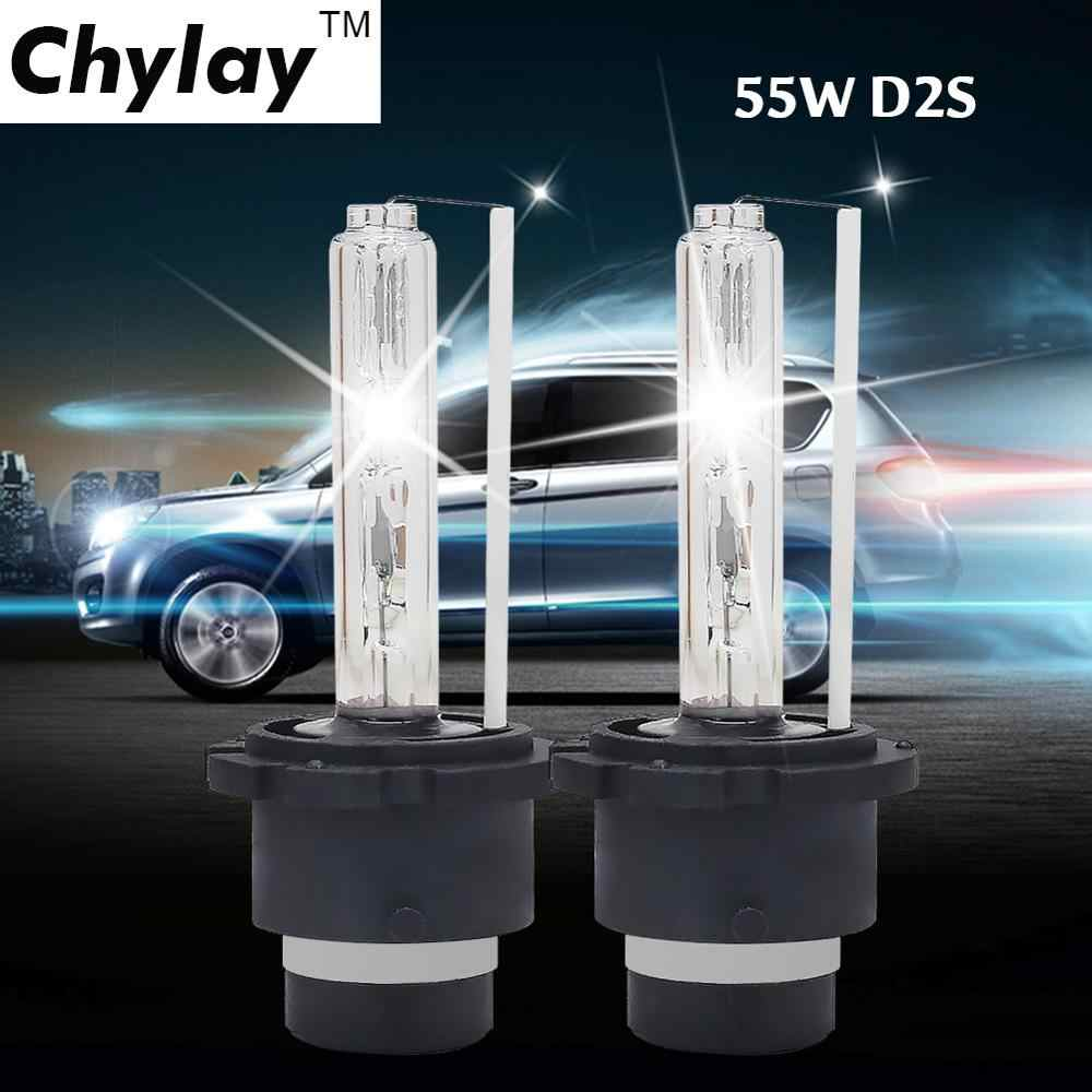 D2S Xenon Bulb 55W HID headlight bulbs 4300k 5000k 6000k 8000k Auto Headlamp Light car accessories d2s lamp 12V