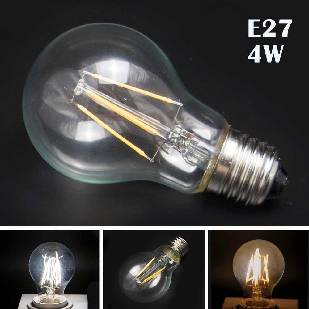 E14 2/4 W E27 4/6/8 W blanc chaud rétro filament LED ampoule bougie lumière Spot lampe 220 V 110 V