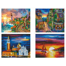 Castle Diamond Painting full drill landscape DIY embroidery square cat Mosaic painting senspecial 5D