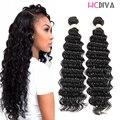 8A Deep Wave Brazilian Hair Black Natural Brazilian Hair 2 bundles Virgin Deep Wave Perruque Cheveux Humain New Annabelle Hair