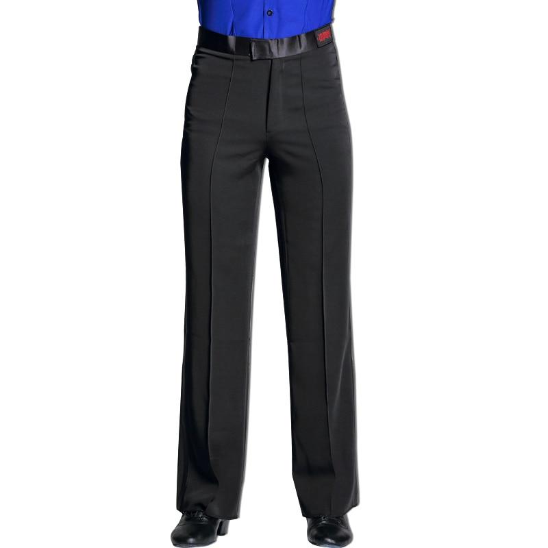 Latin Dance Pants For Men Fashion Black Practice Dancing Wear Tango Cha Cha Salsa Samba Rumba Ballroom Performance Outfit DC1890