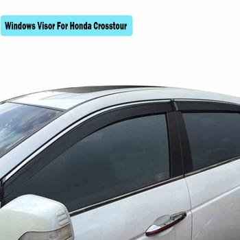 Windows Visor For Honda Crosstour 2014-2018 Sun Rain Protection Shield Cover Car Stylingg Awnings Shelters 4PCS