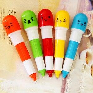 Image 3 - 100 pcs 뜨거운 판매 만화 다채로운 유연한 볼펜 한국어 편지지 크리 에이 티브 볼 포인트 펜 선물 학교 용품 캡슐