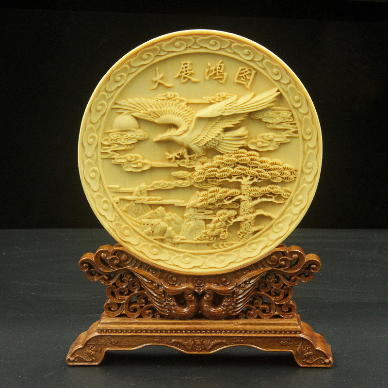 Chinese Dragon figure wood craft Decoration wood decoration home ...