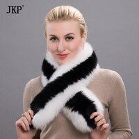 100% Natural Fox Fur Scarf Winter Women Warm Fur Collar long Scarves