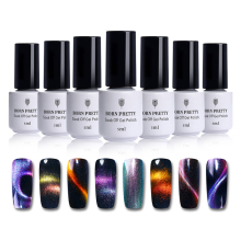 BORN PRETTY 5ml Holografisk kameleon Magnetisk 3D-kattögelgel Polsk Soak Off UV Gel Lack with Nail Art Magnet Board Stick