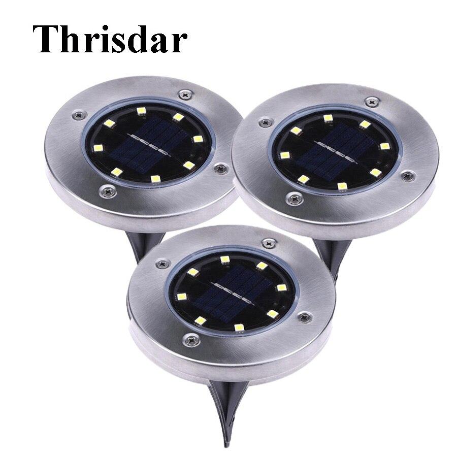 Thrisdar 4 светодиодный 8 светодиодный открытый Солнечный свет земли Водонепроницаемый п ...