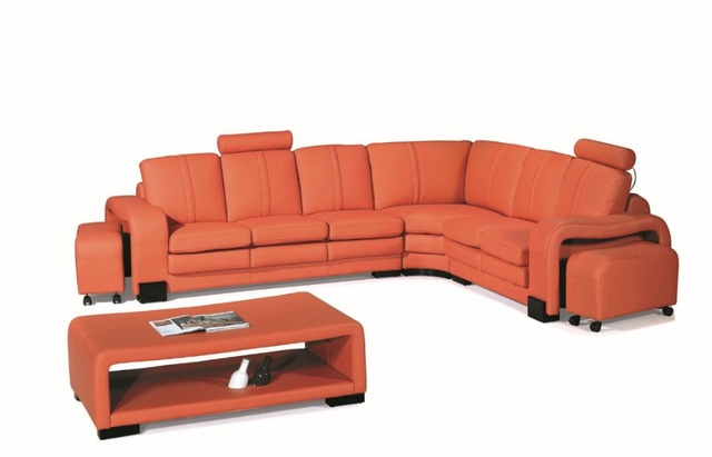 US $1189.0 |Modern corner sofas and leather corner sofas with l shape sofa  set designs sofas for living room -in Living Room Sofas from Furniture on  ...