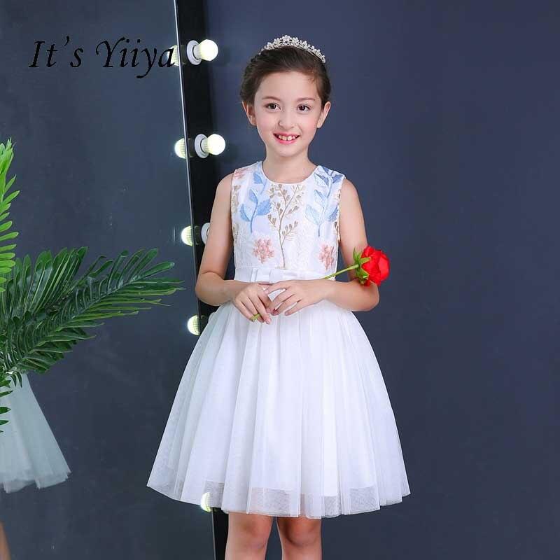 0f42b3163f It s Yiiya Flower Girl Dresses For Party Wedding Kid Child Cloth Bow