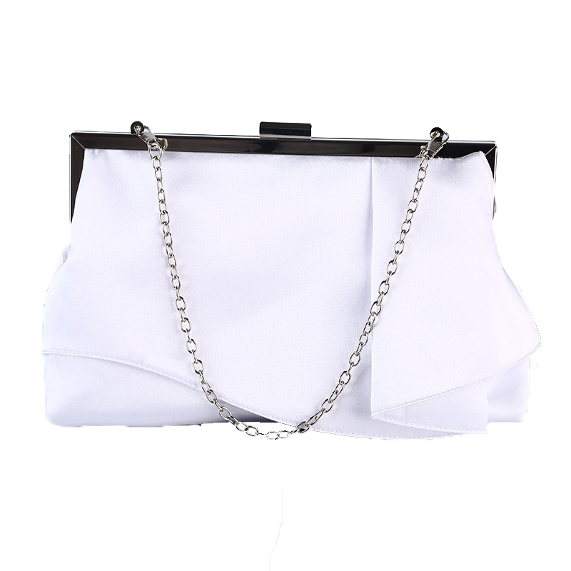 Women Silk Lady Wedding Handbag White Clutch Purse Banquet Bag Party Evening Bags Chains pochette soiree bolsos mujer 2017 lady hot sale black gold white silver clutch women elegant v diamond design wedding handbag female party bag evening bags