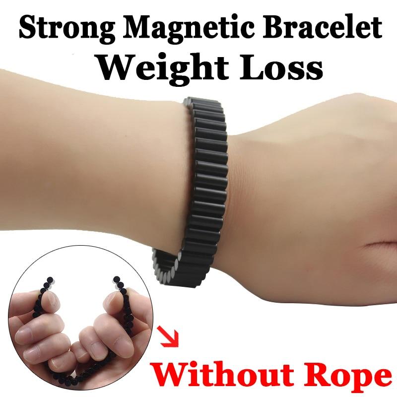 zwarte permanente zeldzame aarde neodymium magneten sterke magnetische Germanium therapie gezondheid horlogeband voor man punk sieraden SMB1001