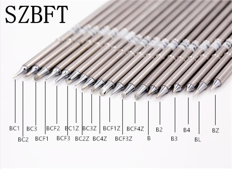 SZBFT Solder Iron Tips Soldering Iron Tip Welding Sting T12-BC1 BC2 BC3 BCF1 BCF2 BCF3 BC1Z BC2Z BC3Z  BC4Z BCF1Z BCF3Z BCF4Z B